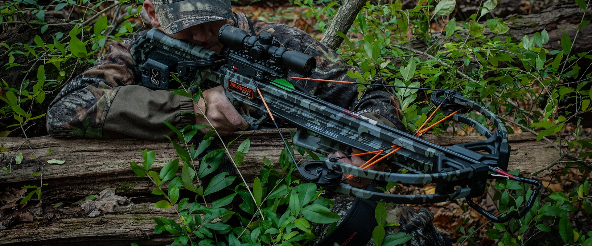 Wicked Ridge Invader 400 Crossbow in the Woods