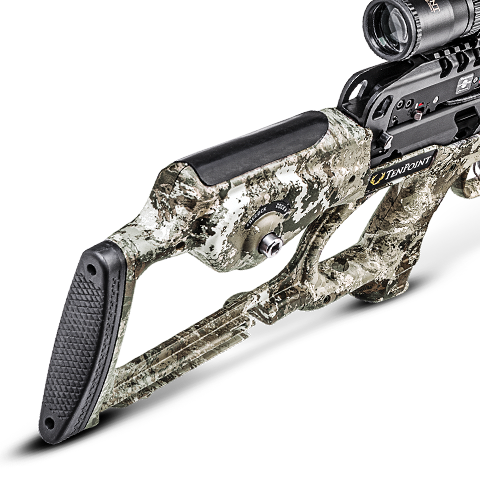Close-up of TenPoint TEC-X Stock